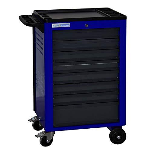 ADB Werkstattwagen Werkzeugwagen Rollwagen Werkstatt Basic blau mit 8 Schubladen