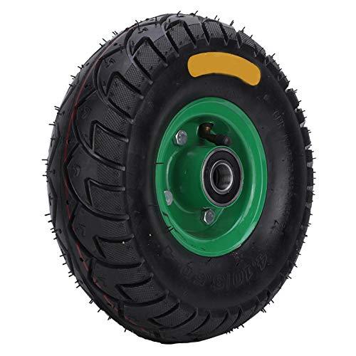 10.5in 4.10/3.50-4 Rueda para carro de camión de sacos, 250 kg, Buena elasticidad, Cojinetes de precisión, Neumáticos para carretilla, Neumático neumático, Rueda para carro de herramientas