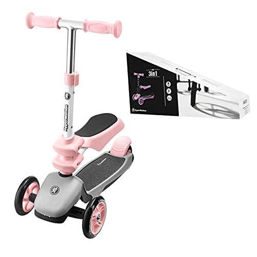 HyperMotion Draisienne Trottinette Enfant 3 en 1 (Charge Max 50 Kg)   Globber Tricycle Bébé...