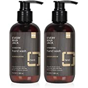Every Man Jack Hand Wash - Sandalwood |12-ounce Twin Pack - 2 Bottles Included | Naturally Derived, Certified Cruelty Free, Gluten Free ,Vegan