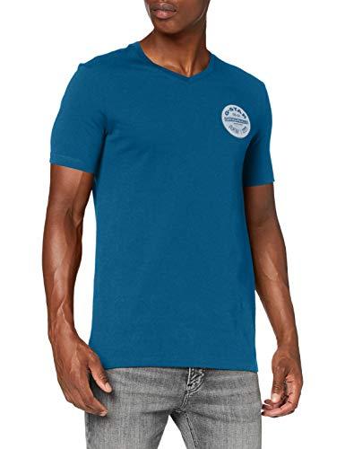 G-STAR RAW Mens Originals Logo Slim T-Shirt, Cricket Blue 336-864, XX-Large