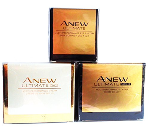 AVON Anew Ultimate Multi-Performance : Tagescreme + Nachtcreme + Augenpflege SET