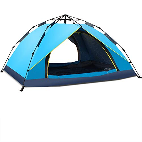 Ziyi Camping Tent,pop-up Tents,Outdoor Thick Waterproof Tent,double Rainproof,automatic Quick Opening And Retracting Freely,umbrella-type Folding Pole,camping Lamp Hook