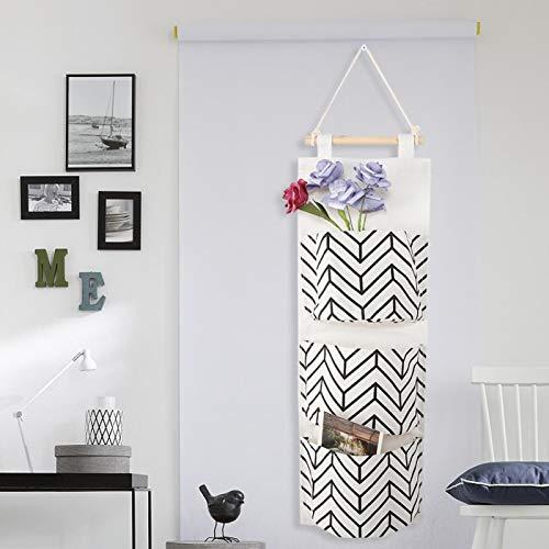 Jeankak Bolso de Moda del Tapiz de la Capacidad Grande del algodón del poliéster, Bolso de la ejecución, para el Dormitorio(D (Double Arrow))