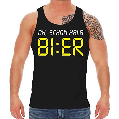 Spaß kostet Männer und Herren Trägershirt Oh, Schon halb Bier Größe S - 8XL