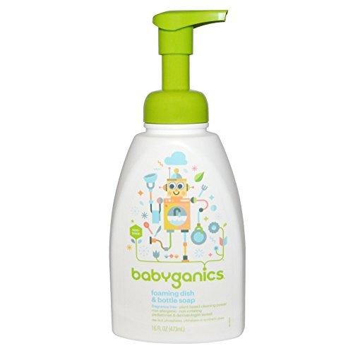 Babyganics Dish Dazzler Foaming Dish and Bottle Soap, Fragrance Free, 16 Fluid Ounce