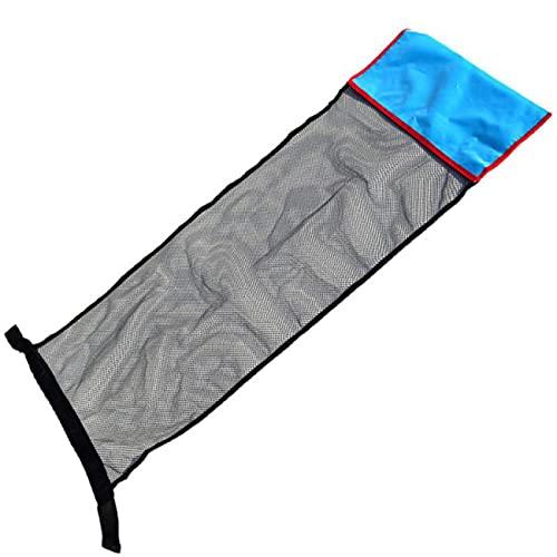 Uniqueheart Piscina Flotante Hamaca de Agua Tumbona Flotante Juguetes flotantes Flotador de Piscina Inflable Silla de Piscina Anillo de natación Cubierta de Red para Cama - Azul