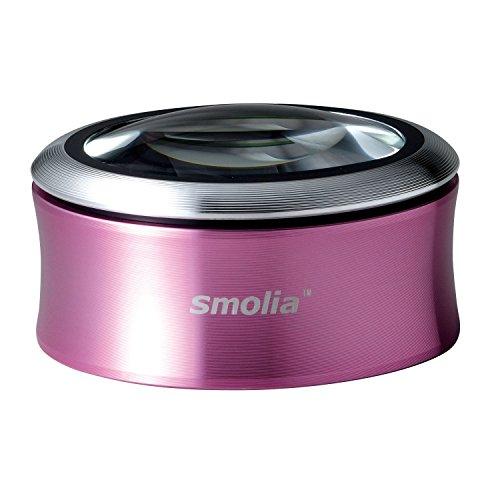 3R スリー・アールシステム 拡大鏡 充電式デスクルーペ [LED拡大鏡smoliaXC] レンズ倍率約3倍 3R-SMOLIA-XCPK ピンク