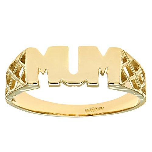 Citerna 9 ct Yellow Gold Mum Ring - Size P