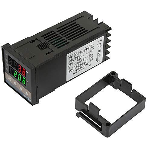 Digitaler Temperaturregler PID-Temperaturregler Thermostat Relaisausgang 0-400 ℃ für Elektrizität, Chemikalien, Spritzguss, Verpackung, Lebensmittel, Inkubatoren, Backöfen(AC220V)
