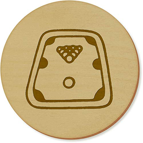 Azeeda 6 x 'Billardtisch' Runde Hölzerne Untersetzer (CR00118484)