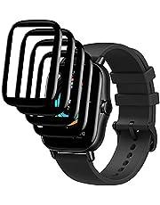 Brifu beschermfolie compatibel met Amazfit Smartwatch GTS 2 /2e, [krasvast], [luchtbelvrij], [eenvoudige toepassing], [Zachte beschermfolie], [Volledige dekking] 【4 stuks】