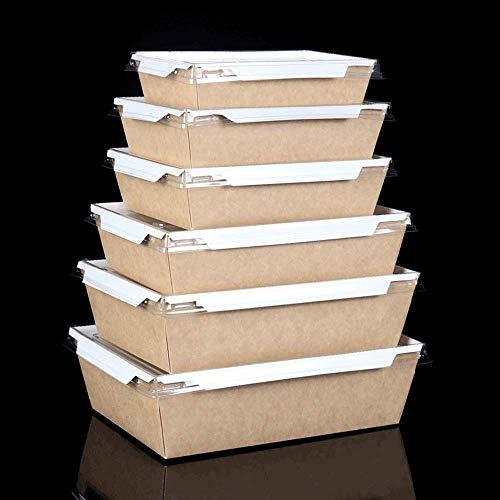 MJK Platos y platos caseros de la novedad, caja de almuerzo rectangular desechable de papel kraft, caja de sashimi de pastel de sushi, caja de almuerzo, paquete de restaurante, comida occidental crea