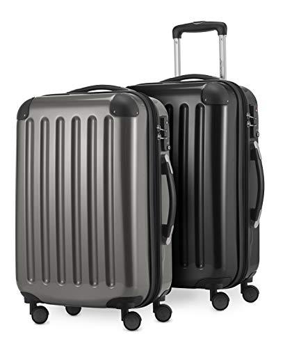 HAUPTSTADTKOFFER - Alex - 2er Handgepäck Kofferset Hartschale glänzend, Kabinengepäck 55 cm,...