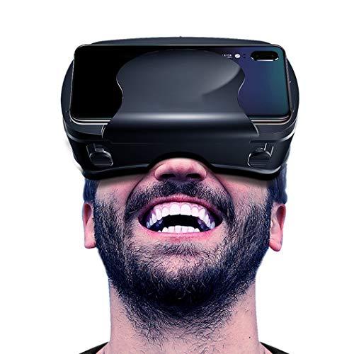 Gafas VR, 3D VR Auriculares Compatible con iPhone y Android, VR Glasses Visión Panorámico 360 Grado Película 3D Juego Immersivo para Móviles 5.0-7.0 Pulgada con Lente Ajustable. O240XB