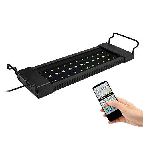 NICREW RGB Plus Aquarium Light, Freshwater Aquarium LED Light with Remote Controller, 24/7