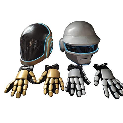 Daft Punk Helmet Cosplay Band Overhead Performance Props Including Helmets & Gloves
