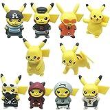 Nesloonp 10 Pezzi Pokémon Mini Figurine Giocattoli, Set di Giocattoli Pokemon Decorazione torta Pokémon Mini Modelli Pokémon, Giocattoli per Bambini Torta di Compleanno Decorazione per feste