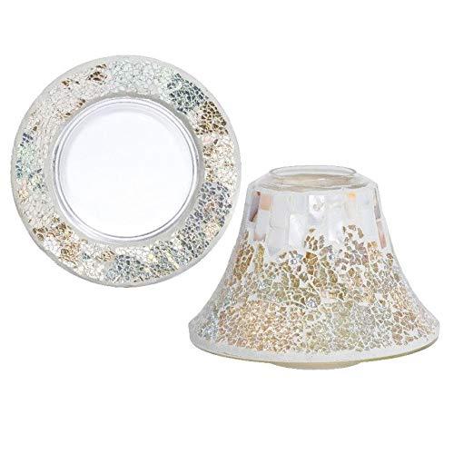 Candle Yankee Paralume + piattino Gold & Pearl Mosaic per giare Medie/Grandi