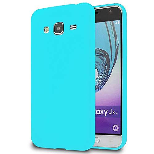e-phoria Custodia Morbida Compatibile con Samsung Galaxy J3   Turqoise   Silicone TPU