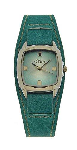 s.Oliver Damen-Armbanduhr Analog Quarz Leder SO-15046-LQR