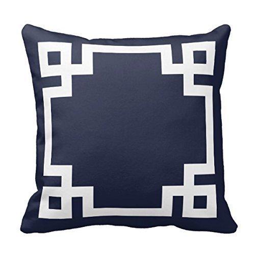 Acelive - Federa decorativa per cuscino, motivo natalizio, 40,5 x 40,5 cm, colore: Blu navy e bianco