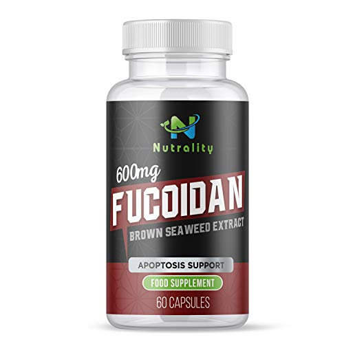 Nutrality Fucoidan Supplement from Pure Brown Seaweed Extract, 600mg, 60 Capsules, Immune Defense Support with Natural Body Detox, Vegetarian, Non-GMO and Gluten Free