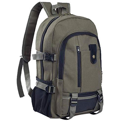 Multifunktions-Reiserucksack Reisetasche Männer Teppich Leinwand Eimer und einige Schüler Schulrucksack#LR3-China_ArmyGreen