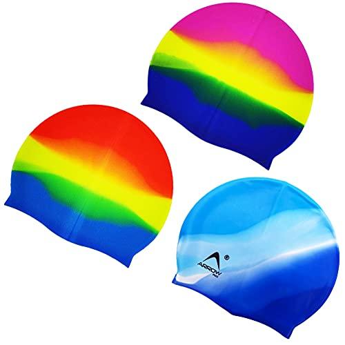 CYSJ Set 2 Pezzi Colore Cuffia da Nuoto per la Protezione delle Orecchie 3D, Ear cap Cuffia Nuoto Unisex, in Silicone Impermeabile, di Alta qualità Atossico Antiscivolo Proteggi i Capelli