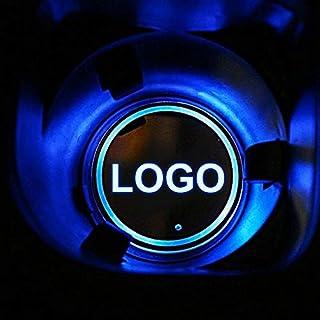 Z.L.F.J.P 2×LEDライト車のロゴカップマットP-O-N-T-I-A-C R-M-CO-R-V-E-T-T-E H-O-L-D-E-N L-E-X-U-Sルミナスコースターホルダー用 (Color : For Holden Logo,...