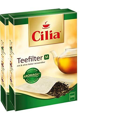 CILIA® Teefilter 100Stk. Grösse M mit/ohne Halter verwendbar ( 2er Pack )
