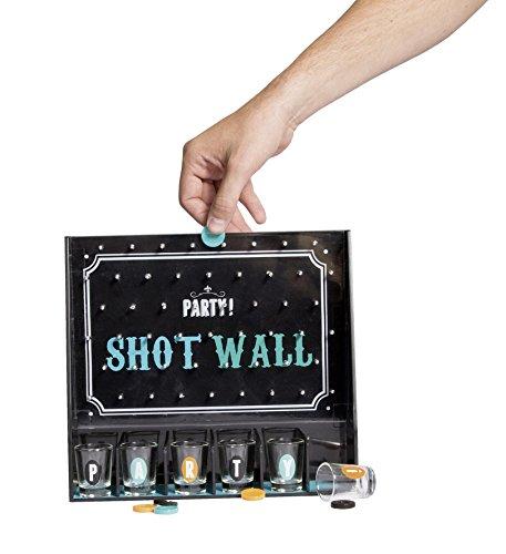 Party Shot-Wall Trinkspiel Partygame inkl. Chips und 6 Shooter Gläser