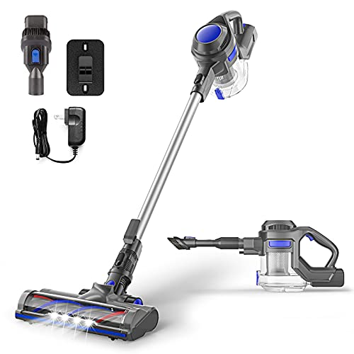 Cordless Stick Vacuum Cleaner, 4 in 1 Stick Handheld Vacuum Cleaner with Powerful Suction for Home Hard Floor Carpet Car Pet Hair