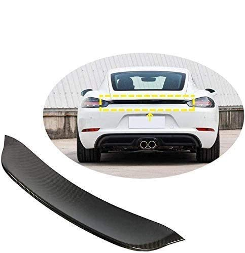 VTDOUQ Black Car Rear Spoiler, Used For Porsche 718 Cayman Boxster 2016-2019 Luggage Lid Wing, Universal Carbon Fiber Modified Roof Extension Lip