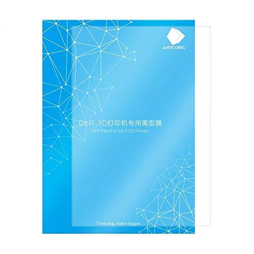 ANYCUBIC FEP Film, Teflon Film Ersatzblatt 200 x 140 x 0,15 (mm) für Photon Photon S LCD SLA resin 3D Drucker (1 pcs)
