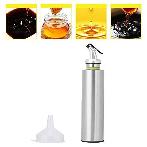 Jeffergrill Botella de aceite de acero inoxidable Dispensador de aceite de oliva Líquido a prueba de fugas Vinagre de salsa de soja(150ML)