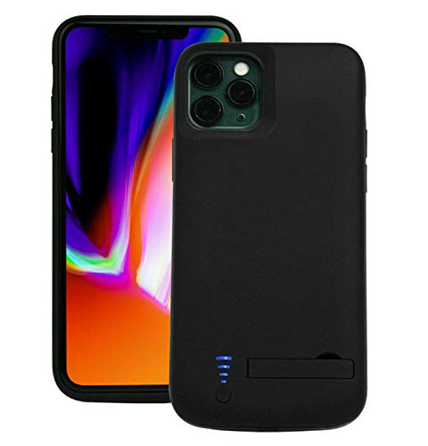 Battery Case Compatible with iPhone 11 with 6000 mAh 150% Extra Battery Power, Full Protection Charger Case for iPhone 11 Supports Audio (Black 6.1 inch)