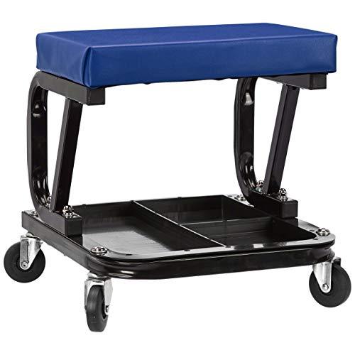 AmazonBasics Rolling Creeper, Garage/Shop Seat with 300 lb Capacity - Blue