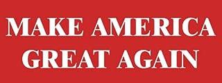 Simple RED Make America Great Again Bumper Sticker (Trump us Patriot)