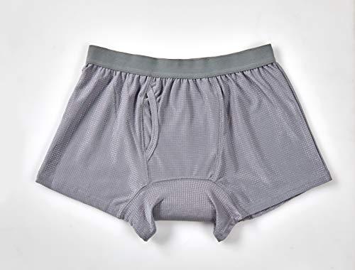 メンズ失禁 尿漏れパンツ男性用 ボクサーパンツ 無地メッシュ (LL)