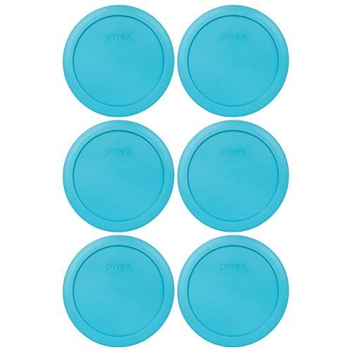 Pyrex 7201-PC 4 Cup Surf Blue Round Plastic Food Storage Lid - 2 Pack