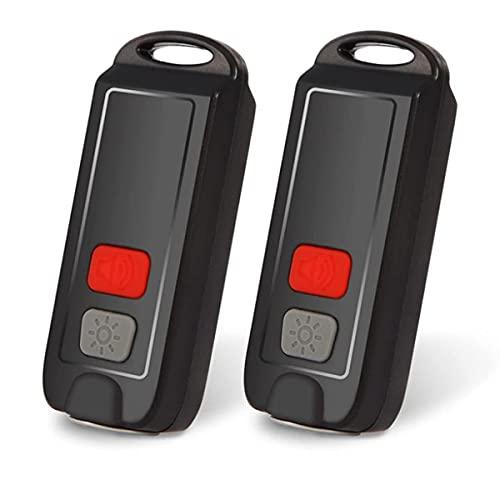 Andifany Alarma Personal, 2 Paquetes de Alarmas de Seguridad Personal para Mujeres, Alarma de Llavero Recargable de 130 DB con Luz LED Intermitente