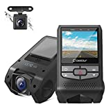 Crosstour Front and Rear Dash Cam Mini Dual in Car DVR Dashboard Recorder