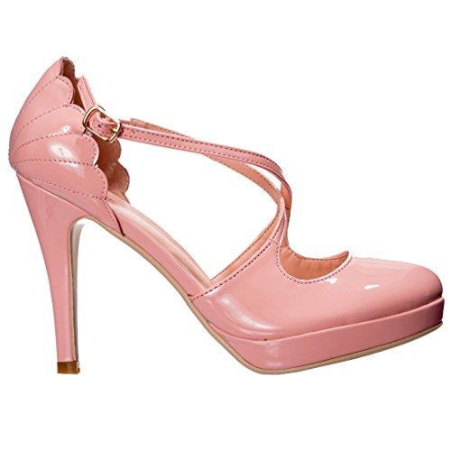 Dancing Days Riverside Rae - Zapatos de tacón alto, color rosa, color, talla 36 EU