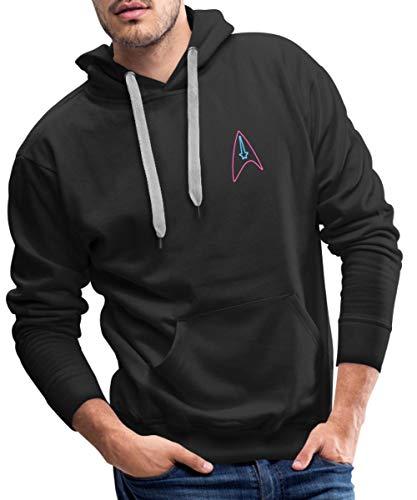 Star Trek Discovery Insigne Néon Sweat-Shirt à Capuche Premium pour Hommes, S, Noir