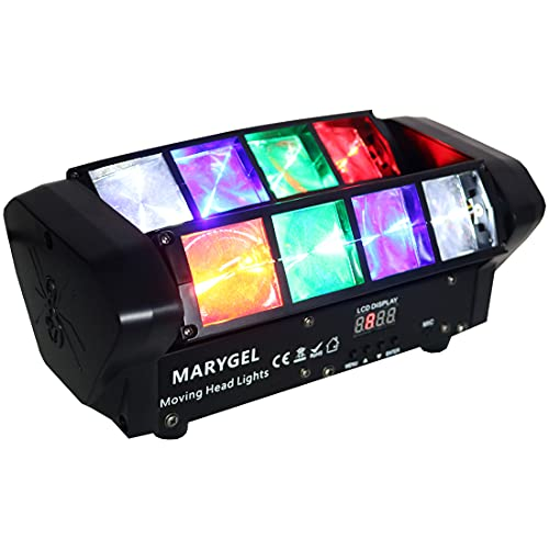 DJ Lights,MARYGEL 8 LEDs Beam Moving Head Stage Lights RGBW Party Lights Sound Activated DMX 512 Control Club Lights for Bar, Home,Church,Event, Concert