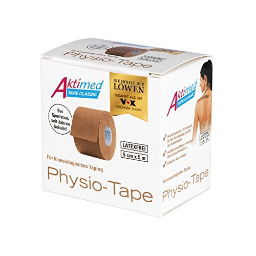 Aktimed TAPE CLASSIC - Die Klassiker der Physio Tapes für kinesiologisches Taping| Hochelastisches Physio-Tape atmungsaktiv und hautfreundlich [Beige]