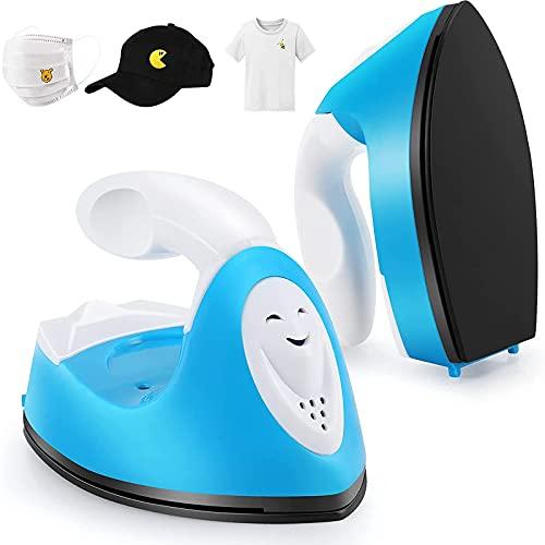 MUYEY Mini Prensa de Calor Adecuada para Camisetas, Zapatos, Sombreros, Accesorios con Base Recargable, Mini Prensa de Transferencia portátil,Negro