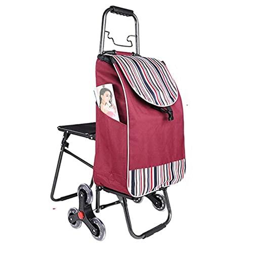 GAO-bo Carros De Compras, Carro De Compras De Comestibles, Carrito Portátil Plegable, Supermercado Compras Trolley MAX Capacidad 30 Kg (Color : E)