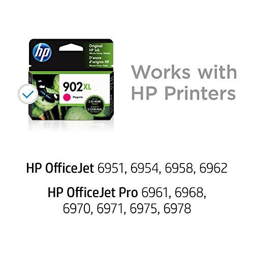 HP 902XL | Ink Cartridge | Works with HP OfficeJet 6900 Series, HP OfficeJet Pro 6900 Series | Magenta | T6M06AN